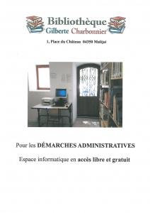 Bibliothèque accès ordinateur