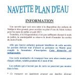 NAVETTE PLAN D'EAU