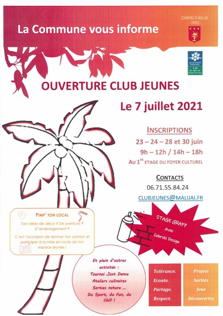Affiche A3 Club Jeunes